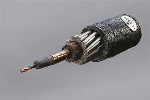 Amostra cabo submarino telegráfico