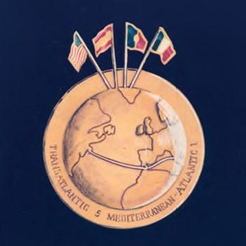 Medalha comemorativa da inauguração do cabo do sistema submarino TAT5 MAT-1 -1970